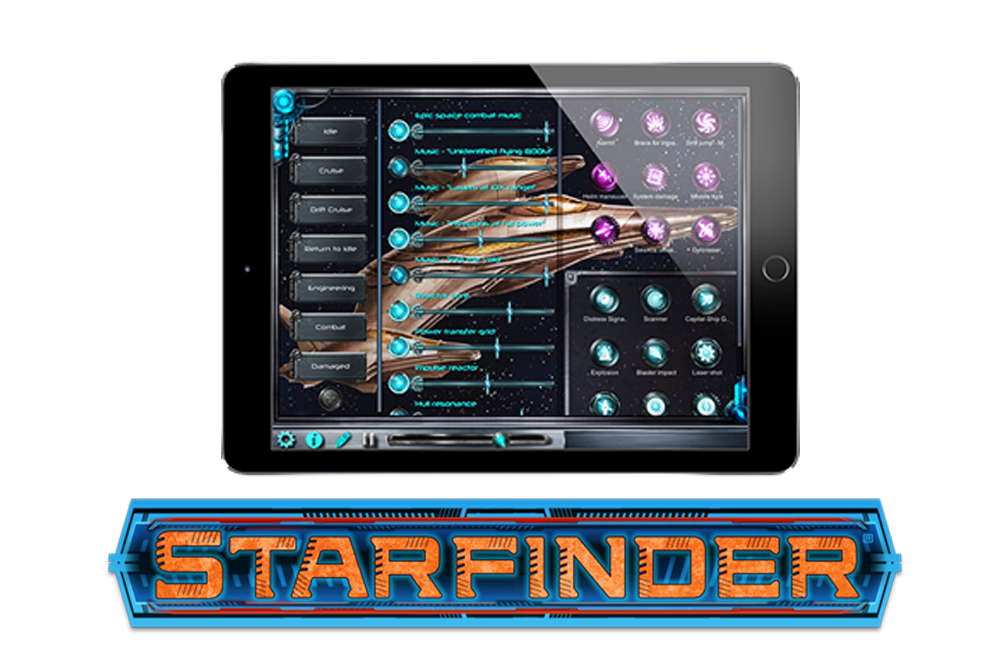 Starfinder playing on iPad