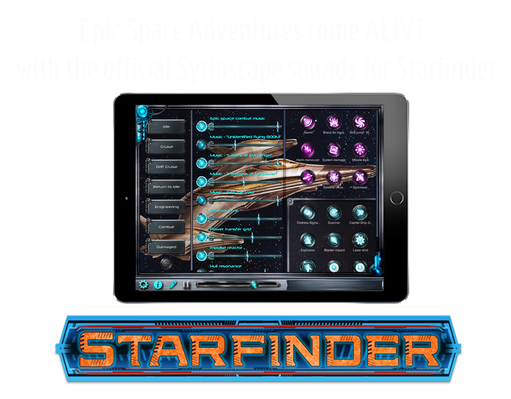 Epic space adventures come alive with Syrinscape sounds for Starfinder