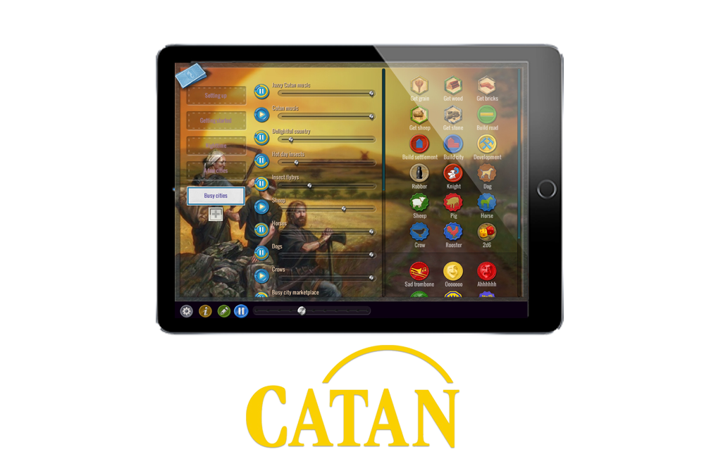 Find out about board game sounds for Catan