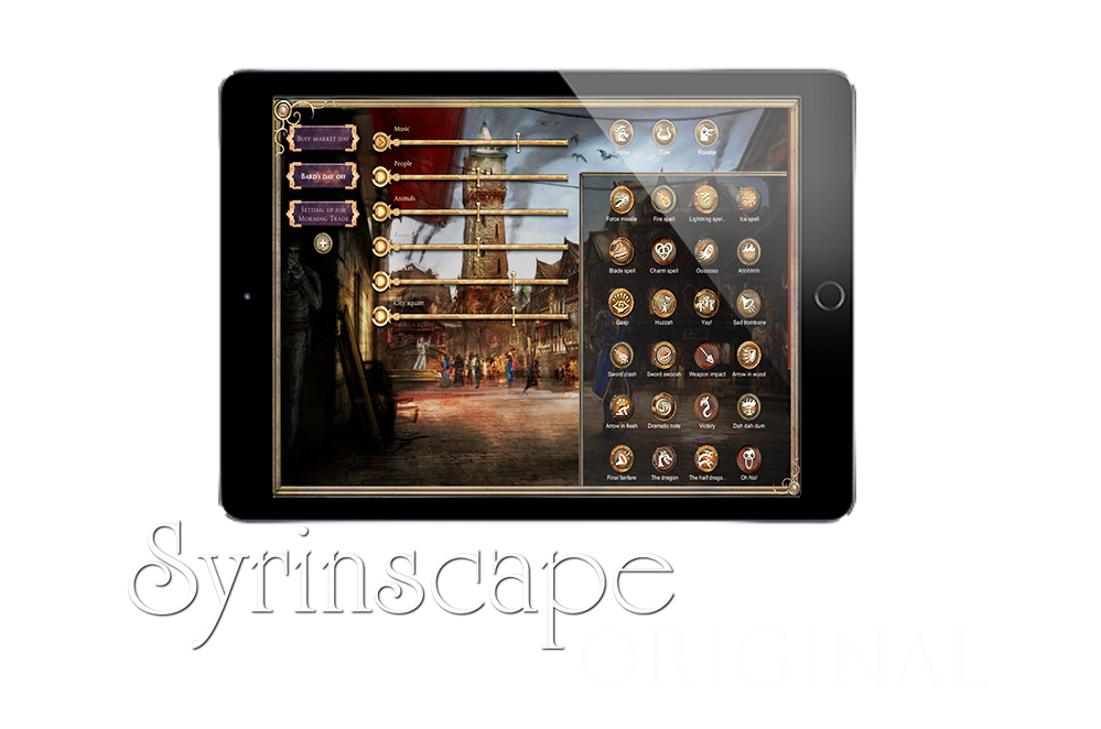 Find Syrinscape's original soundsets of background music and sound effects